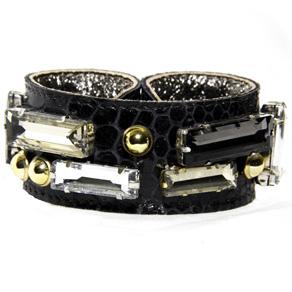 BruceGlen Stones & Gold Slapstick Bracelet $85 (www.BruceGlen.com)