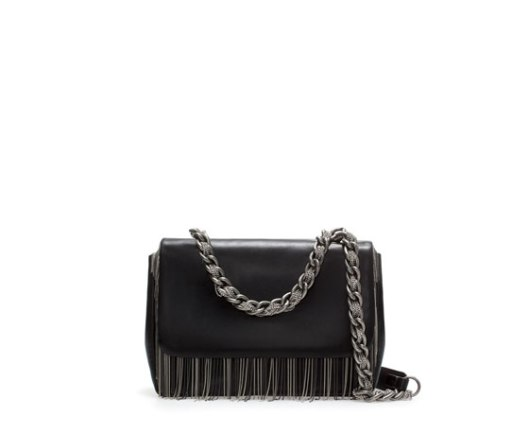 Limited Edition Punky Chain & Leather Messenger Bag $279 (www.zara.com)