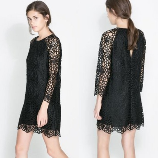 Lace dress $119 (www.Zara.com)