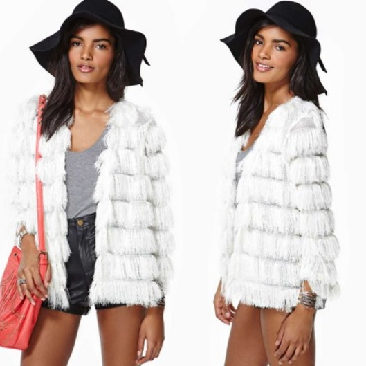 """Keep on Swinging"" Fringe Jacket $58 (www.nastygal.com)"