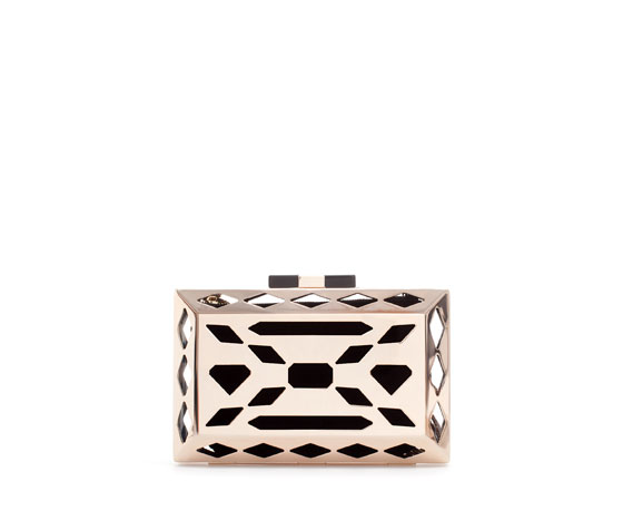 Punched Metal Minaudiere $100 (www.zara.com)